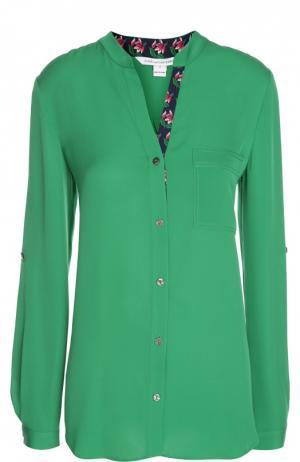 Блуза Diane Von Furstenberg. Цвет: зеленый