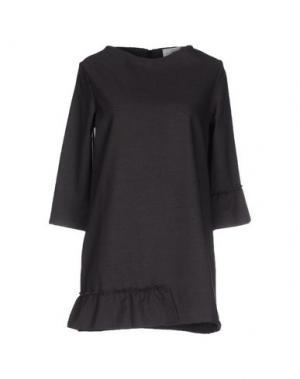 Короткое платье PINK BOW. Цвет: серый