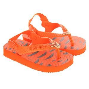 Шлепанцы детские  Disney Classics Orange/Black Havaianas. Цвет: оранжевый,черный
