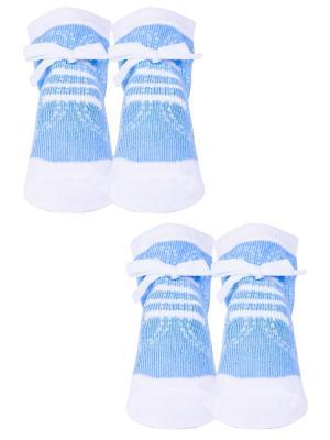 Носки, 2 пары Malerba. Цвет: голубой