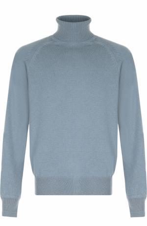 Кашемировый свитер с воротником-стойкой Tom Ford. Цвет: голубой