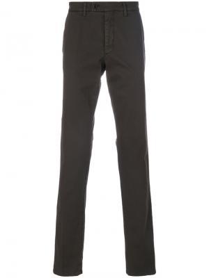 Классические брюки-чинос Aspesi. Цвет: коричневый
