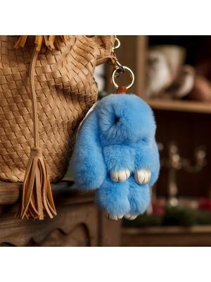 Кролик-брелок GOOD MOOD. Цвет: голубой
