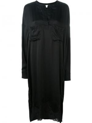Удлиненная рубашка Faith Connexion. Цвет: чёрный