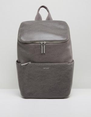 Matt & nat Серый рюкзак Brave. Цвет: серый
