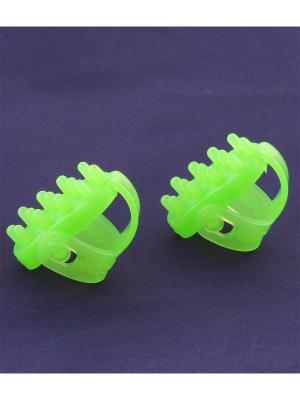 Универсальный массажер Волшебные-пальчики, зеленый Радужки. Цвет: зеленый