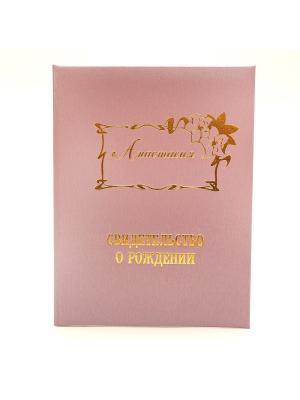 Именная обложка для свидетельства о рождении Анастасия Dream Service. Цвет: розовый