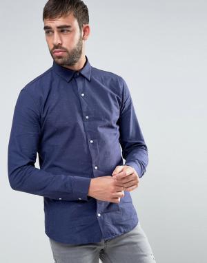 Dead Vintage Темно-синяя рубашка в крапинку. Цвет: темно-синий