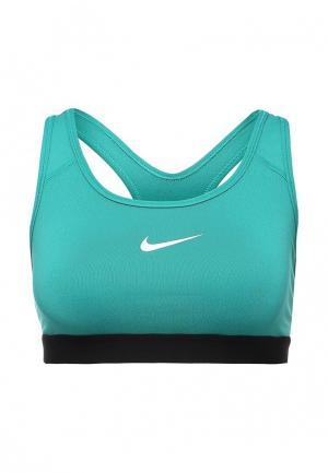 Топ спортивный Nike. Цвет: бирюзовый