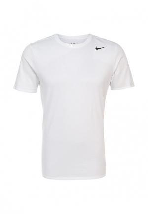 Футболка спортивная Nike. Цвет: белый
