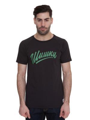 Футболка ЗАПОРОЖЕЦ Шишки T-Shirt. Цвет: черный