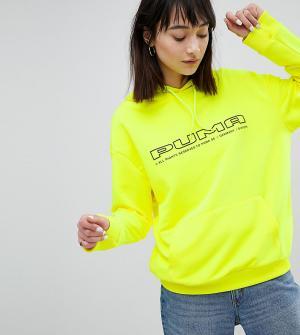 Puma Ярко-желтый свитшот с логотипом эксклюзивно для ASOS. Цвет: желтый