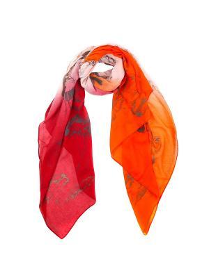 Шарф Fabretti. Цвет: оранжевый