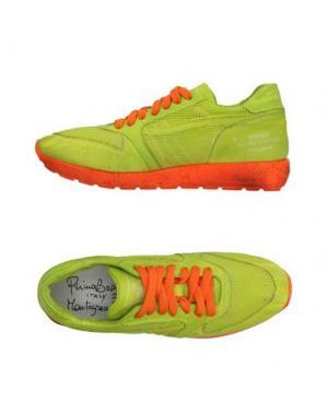 Низкие кеды и кроссовки PRIMABASE. Цвет: кислотно-зеленый