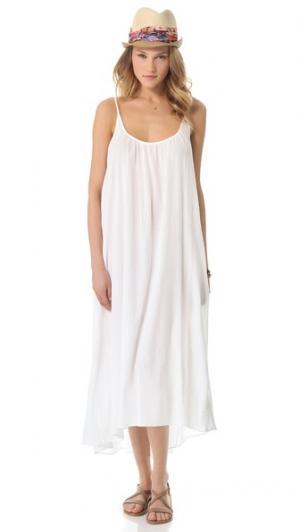 Пляжное платье Tulum 9seed. Цвет: белый