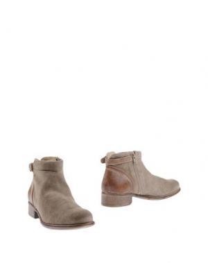 Полусапоги и высокие ботинки MANAS. Цвет: бежевый