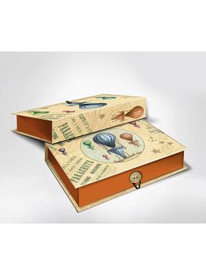 Подарочная шкатулка-коробка ВОЗДУШНЫЙ ШАР S Magic Home. Цвет: голубой, коричневый, кремовый