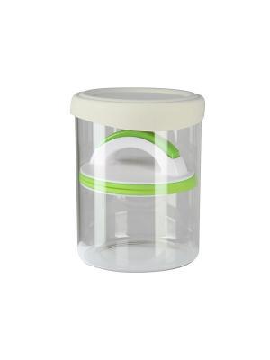 Банка для хранения 1000мл Elff Ceramics. Цвет: зеленый, белый