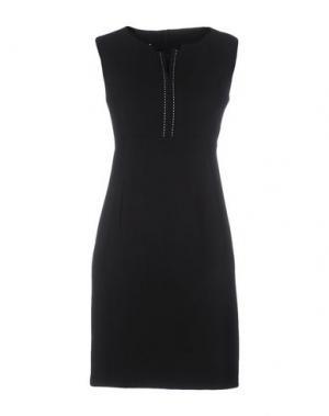 Короткое платье BIANCOGHIACCIO. Цвет: черный
