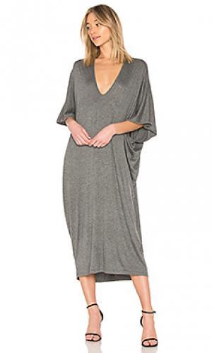 Платье luca Riller & Fount. Цвет: серый