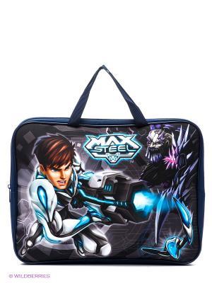 Папка-сумка Max Steel Centrum. Цвет: темно-синий, темно-серый, голубой