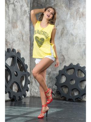 Туника MONDIGO. Цвет: светло-желтый
