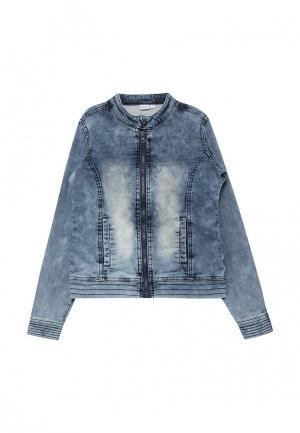 Куртка джинсовая 3 Pommes. Цвет: синий