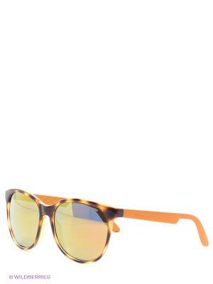 Солнцезащитные очки CARRERA. Цвет: оранжевый, коричневый
