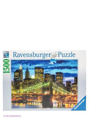 Паззл Небоскребы Нью-Йорка, 1500 шт Ravensburger. Цвет: синий, белый, желтый, зеленый, оранжевый, фиолетовый