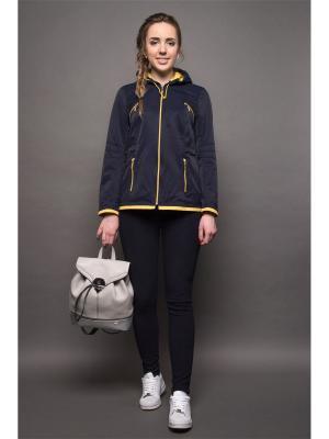 Куртка Злата Versia. Цвет: синий, горчичный