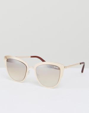 Quay Australia Солнцезащитные очки кошачий глаз Super Girl. Цвет: золотой
