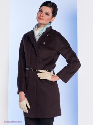 Пальто Electrastyle. Цвет: коричневый