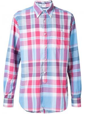Рубашка в клетку Engineered Garments. Цвет: синий