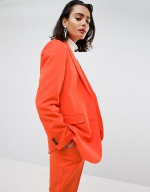 ASOS Оверсайз-блейзер в стиле унисекс Tailored. Цвет: оранжевый