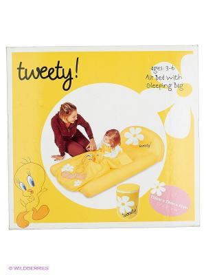 Надувная кровать Bestway. Цвет: желтый, белый