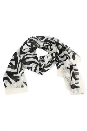 Платок Moschino. Цвет: черный, белый