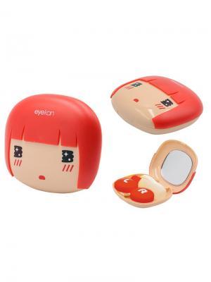 Набор для контактных линз Рёва А8076-С01 Germes. Цвет: бежевый, красный