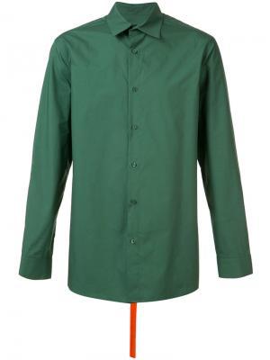 Рубашка с ремешком на спине D.Gnak. Цвет: зелёный