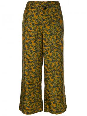 Укороченные брюки Parish Cyrus Christian Wijnants. Цвет: жёлтый и оранжевый