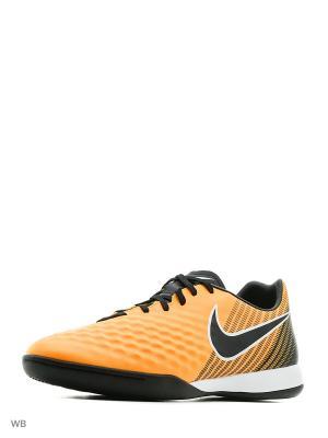 Кеды для зала MAGISTAX ONDA II IC Nike. Цвет: оранжевый, черный