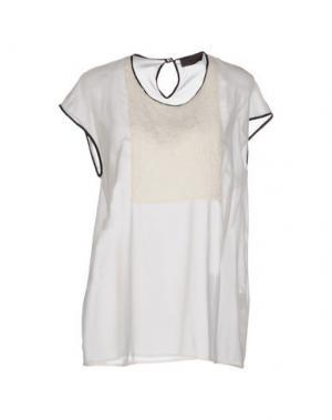 Блузка JO NO FUI. Цвет: слоновая кость
