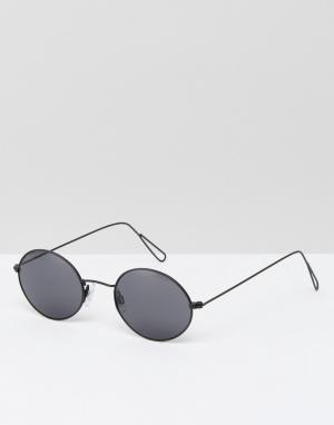 Weekday Круглые солнцезащитные очки в стиле ретро. Цвет: серебряный