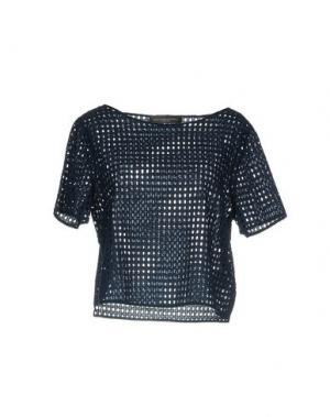 Блузка CARLA MONTANARINI. Цвет: темно-синий