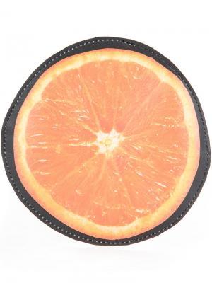Кошелек в виде апельсина Cityshop. Цвет: чёрный