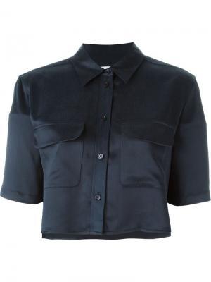 Рубашка с рукавами три четверти Equipment. Цвет: синий