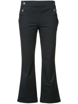 Укороченные брюки в морском стиле Hache. Цвет: синий