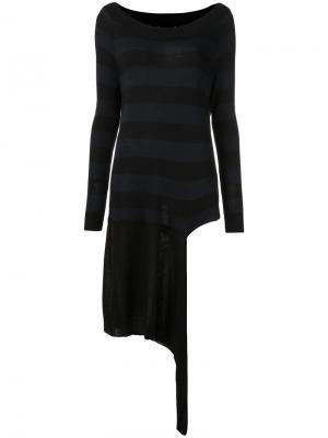 Асимметричная блузка Gloria Coelho. Цвет: чёрный