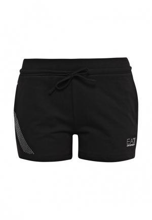 Шорты спортивные EA7. Цвет: черный