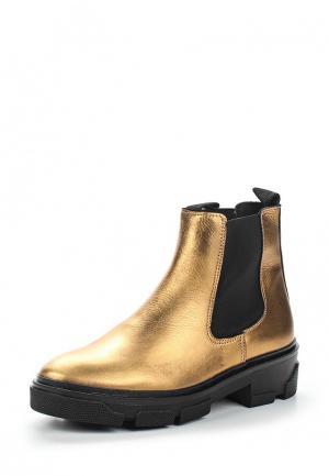 Ботинки Topshop. Цвет: золотой
