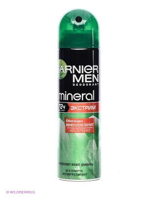 Дезодорант-спрей Mineral, Экстрим. 72 часа,мужской,150 мл Garnier. Цвет: зеленый